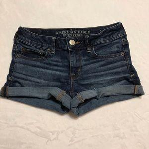 American Eagle Dark Wash Shorts
